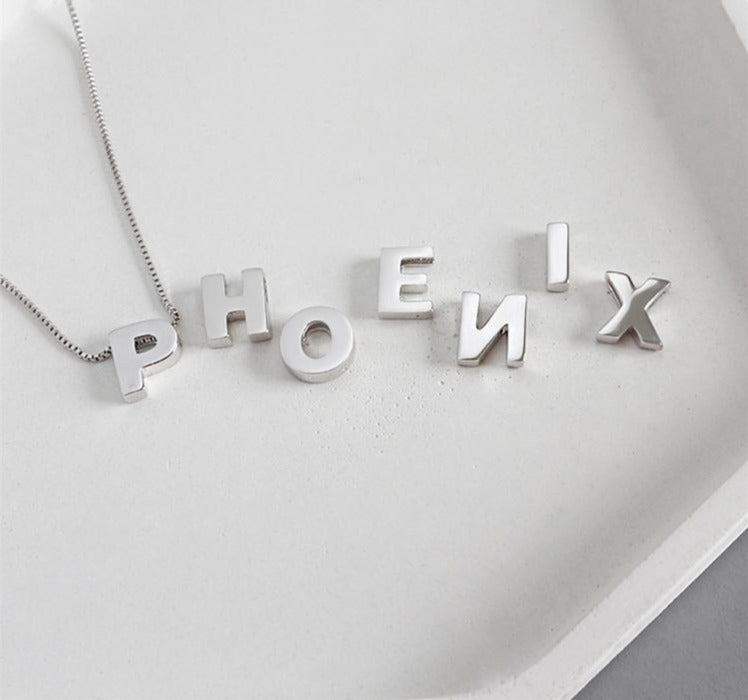 PERSONALISED INITIAL LETTER PENDANT NECKLACE - House of Pascal