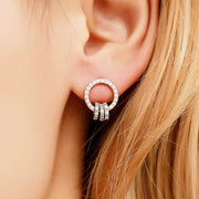 INTERLINKED CIRCLE EARRINGS - House of Pascal