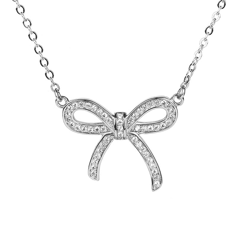 BOW DEREK PENDANT NECKLACE - Sterling Silver - House of Pascal