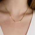 PERSONALISED CLASSIC CAPITALS NAMEPLATE NECKLACE