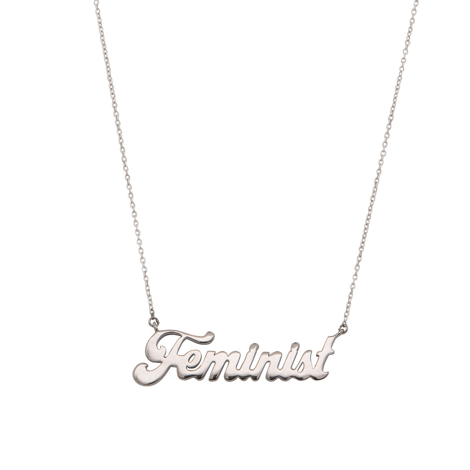 Feminist Sterling Silver Necklace - House of Pascal