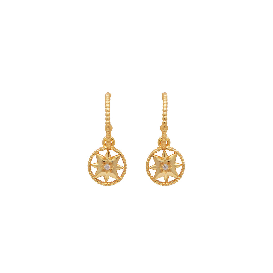 STARBURST EARRINGS - Sterling Silver - House of Pascal