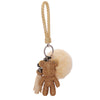 TEDDY BEAR Luxe Rhinestone Key Ring in Gold