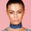 DENIM STAR Choker in Blue