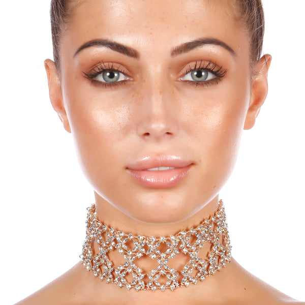 GIGI Statement Jewel Choker in Gold