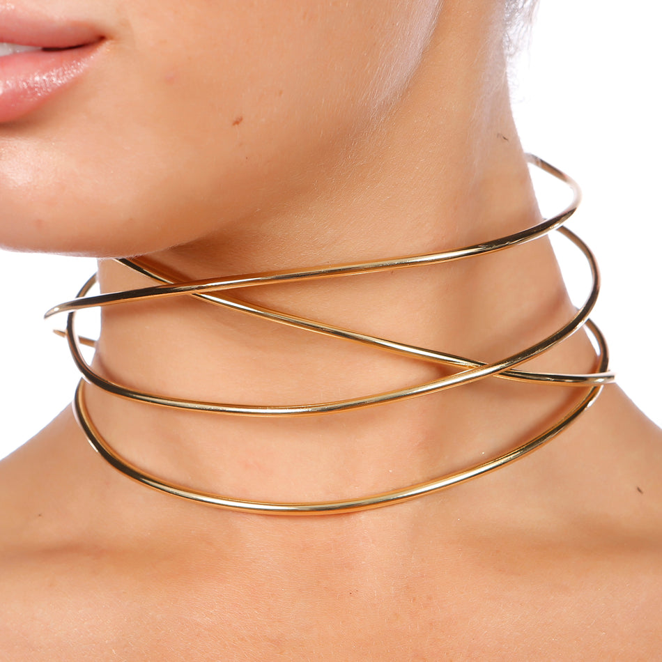 Khloe Cut Out Detail Choker - House of Pascal