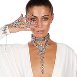 Shelby Gemstone Embellished Choker - House of Pascal