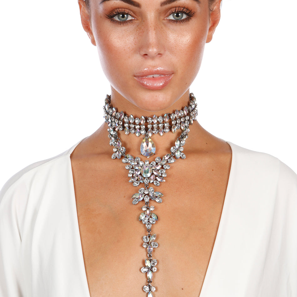 SHELBY GEMSTONE CHOKER - House of Pascal