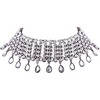 MIMI Statement Tear Drop Rhinestone Choker in Silver