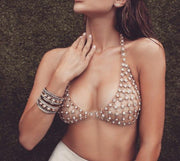 Glamour Rhinestone Bralette Bodychain - House of Pascal