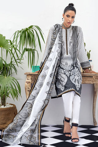 Gul Ahmed Black and White Dress
