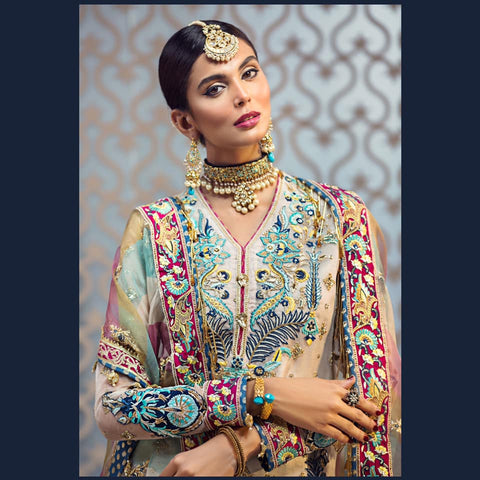 Pakistani Indian Wedding Clothes 2019 Winter Formal Chiffon Designer Wear