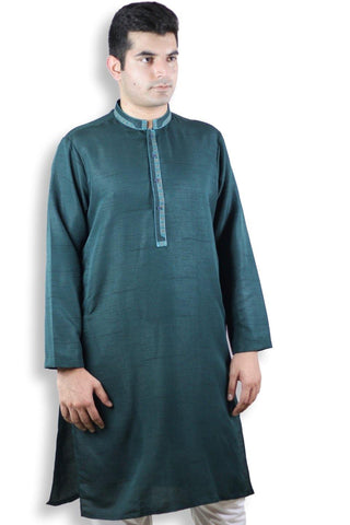 Men Self Printed Kurta - 102011