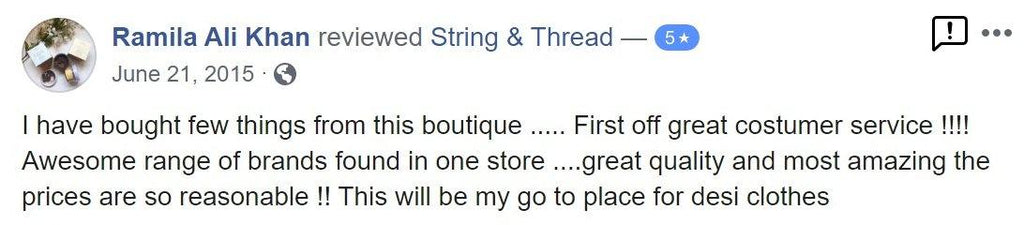 Facebook Review 3 - String & Thread