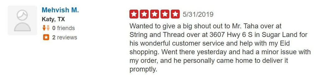Yelp Review 1 - String & Thread