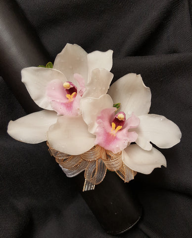 Double Cymbidium Orchid Corsage