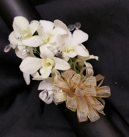 Dendro Orchid Corsage with Jewels