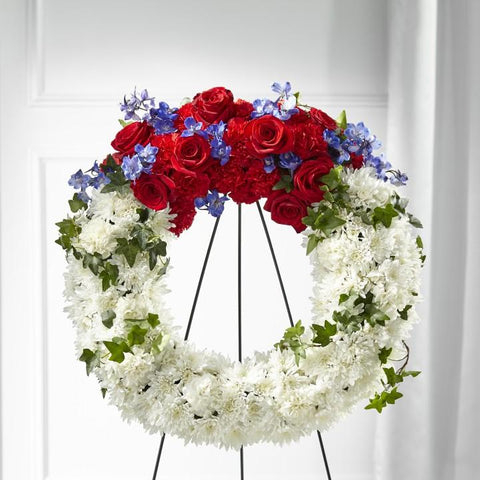 The Patriotic Passion Wreath