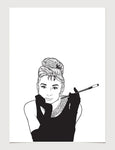 Audrey Hepburn Breakfast at Tiffany's Print Series #3 Print