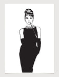 Audrey Hepburn Breakfast at Tiffany's Print Series #1 Print