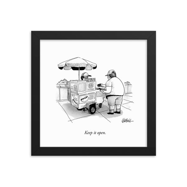 Keep It Open (Framed Print)