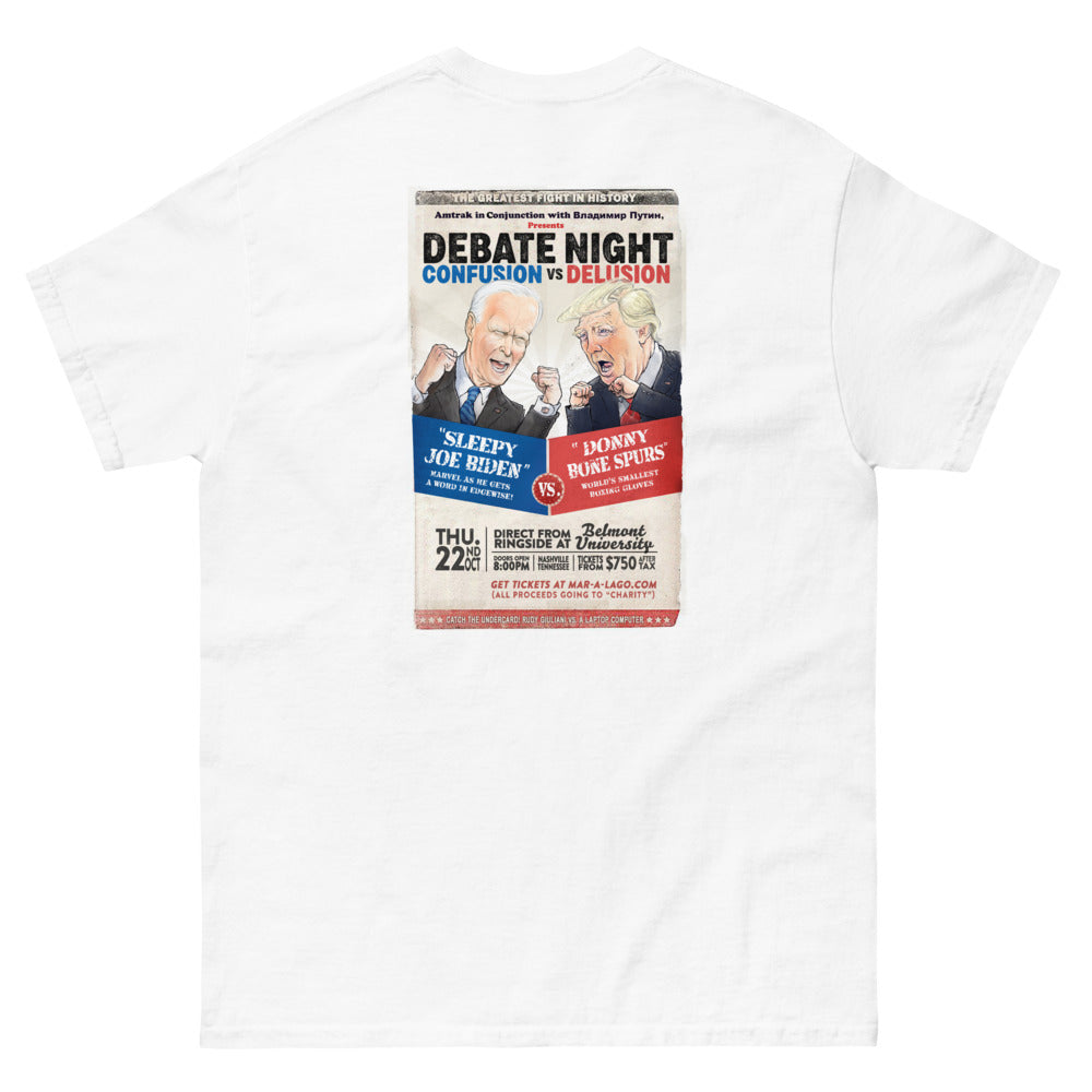 Presidential Debate Boxing Match Poster - Men's heavyweight tee