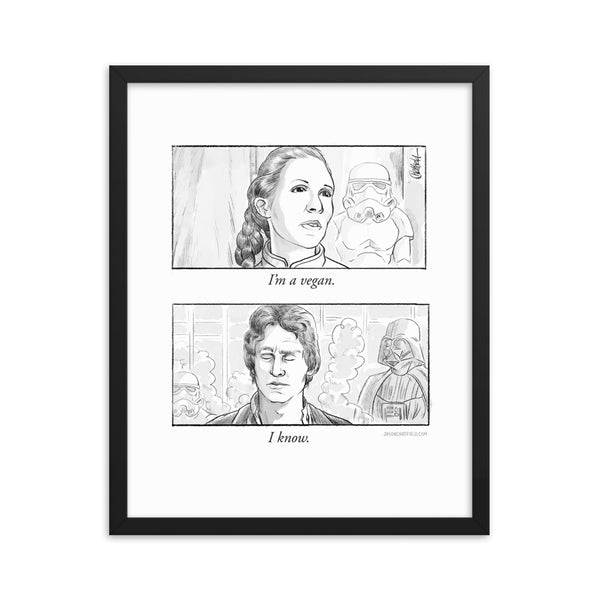 I'm a Vegan Star Wars Comic (Framed Print)