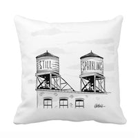 Still or Sparkling? Throw Pillow