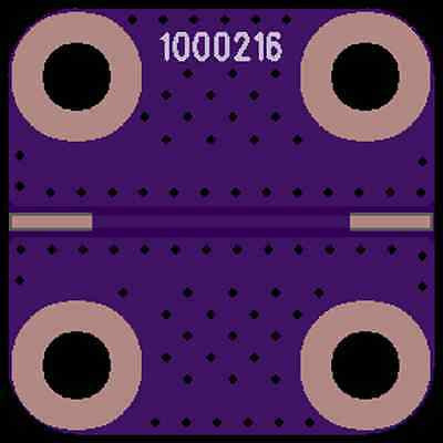 "Develop PCB Coplanar Waveguide (0.5625""x0.5625""x0.062"")"