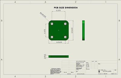 "RF Enclosure Kit for 0.062""/1.6mm PCB (9/16""X9/16"") Passive SMA Connector 0.41"" Height"