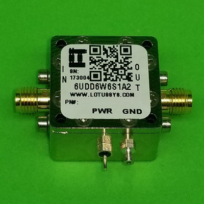 "6UDD6W6S1A2 Enclosure Kit for 0.062""/1.6mm PCB (size 0.5625""x0.5625"") 2 SMA Active 0.58"" Height"