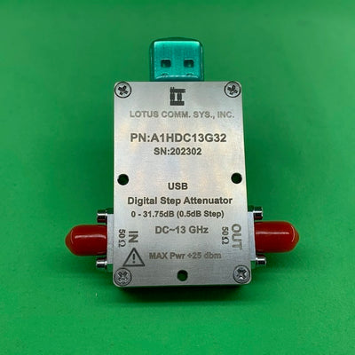 1 Channel 32 dB Programmable Attenuator (USB Stick), 0.5 dB Step, DC - 13 GHz
