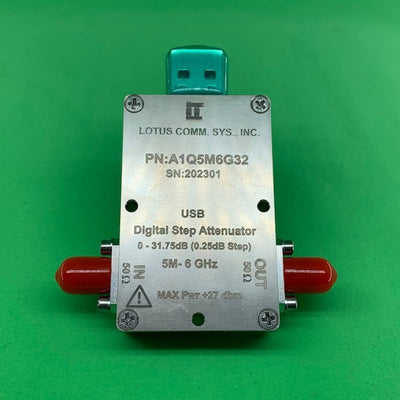 1 Channel 32 dB Programmable Attenuator (USB Stick), 0.25 dB Step, 5M - 6 GHz