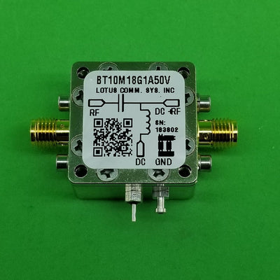 Bias Tee Broadband 10 MHz to 18 GHz (Max. 1A) 50V DC