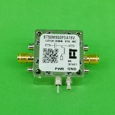 Bias Tee Broadband 50 MHz to 8.2 GHz (Max. 300mA 16V DC)