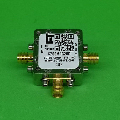 Directional Coupler 700 MHz to 1000 MHz 20dB 2W Low Insertion Loss