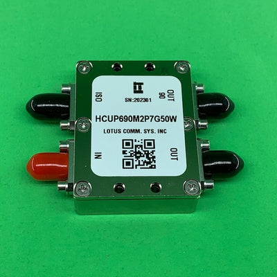 Hybrid 90 Degree 3dB Coupler 690M to 2.7 GHz 50W