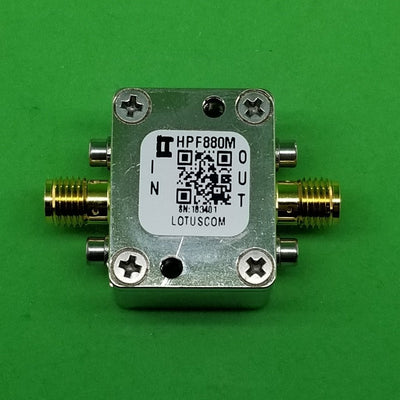 High Pass Filter (LTCC Construction) HPF880M Pass Band 950M - 3200MHz