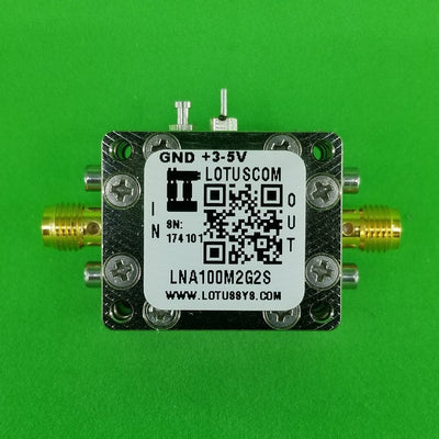 Amplifier LNA 0.45dB NF 100M~2GHz 40dB Gain 20dBm P1dB SMA - 2 Stage High Gain