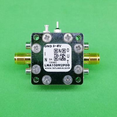 Amplifier LNA 0.45dB NF 100MHz to 2GHz 20dB Gain 20dBm P1dB SMA