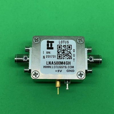 Amplifier LNA 1.3dB NF 500MHz to 4GHz 22dB Gain 22dBm P1dB 39.5dBm P3dB SMA