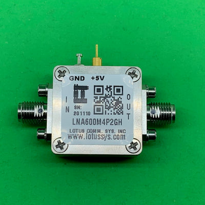 Amplifier LNA 0.67dB NF 600MHz to 4.2GHz 19dB Gain 21dbm P1dB 2dB Flat Gain SMA