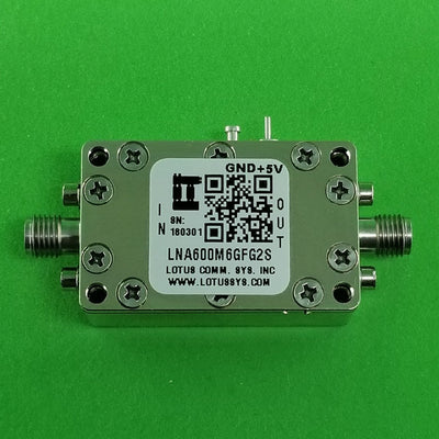 Amplifier LNA 0.9dB NF 600M~6000 MHz 39dB Gain 19dBm P1dB SMA - 2 Stage High Gain