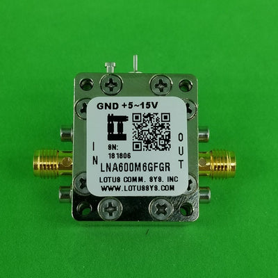 Broadband Low Noise Amplifier with LDO 0.9dB NF 600M~6GHz 21dB Flat Gain SMA