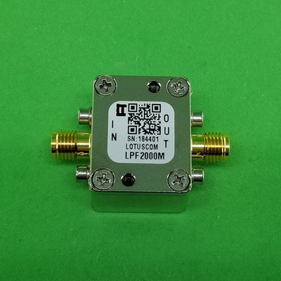 Low Pass Filter LPF2000M (LTCC Construction) Pass Band DC-2000 MHz