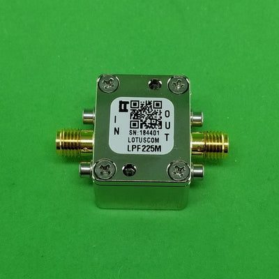Low Pass Filter LPF225M (LTCC Construction) Pass Band DC-225MHz