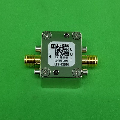 Low Pass Filter LPF490M (LTCC Construction) Pass Band DC-490 MHz