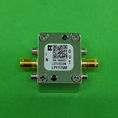 Low Pass Filter LPF575M (LTCC Construction) Pass Band DC-575 MHz