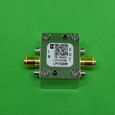 Low Pass Filter LPF630M (LTCC Construction) Pass Band DC-630 MHz