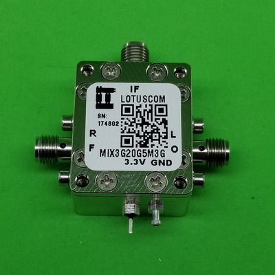 Active Frequency Mixer (MIX3G20G5M3G) 3GHz to 20GHz RF and 4.5M - 3G IF (LTC5552)